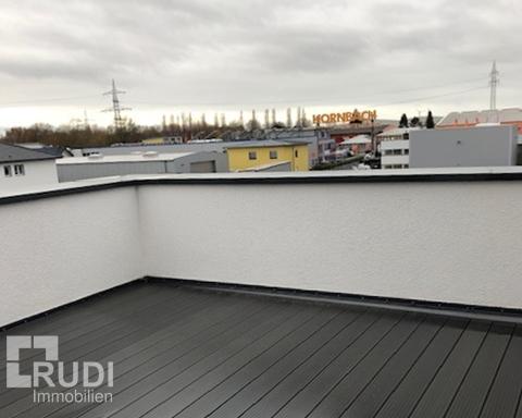 Ausblick Terrasse der Büroräume in Paderborn / Schloß-Holte