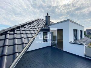 Dachgeschosswohnung: Blick von der Dachterrasse