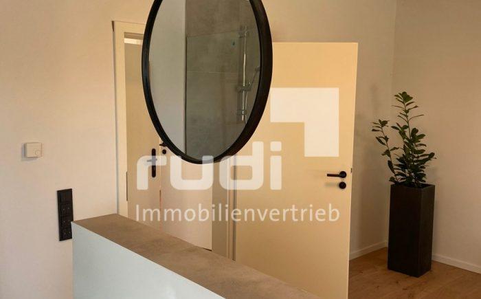 Integrierter Badbereich der Erdgeschosswohnung in Lippstadt
