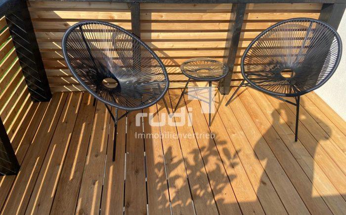 Balkon der Maisonette-Wohnung in Lippstadt / Lipperbruch